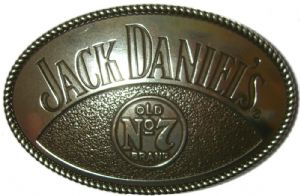 Jack Daniel's Oval Old no.7 Officially Licensed Belt Buckle + display stand.